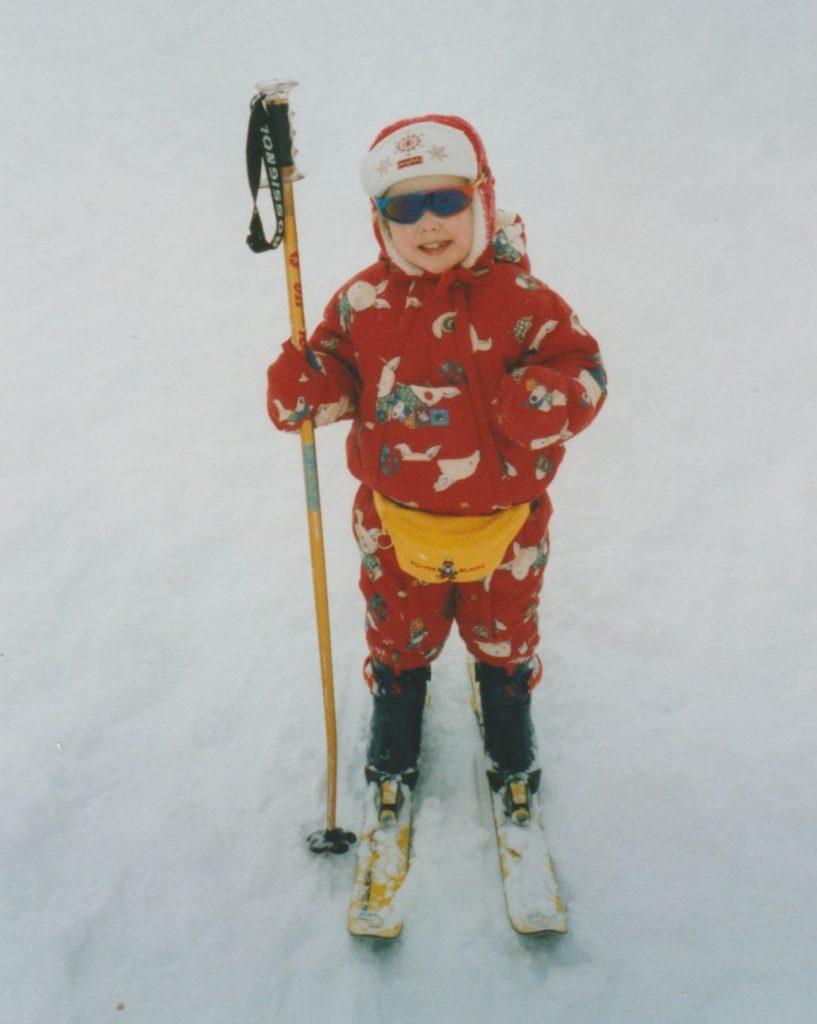 skiing at 3 years old