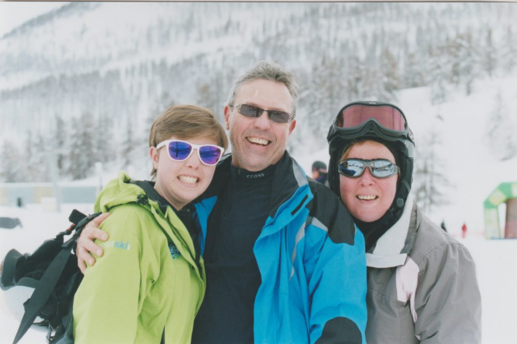 parents visit from first ski season