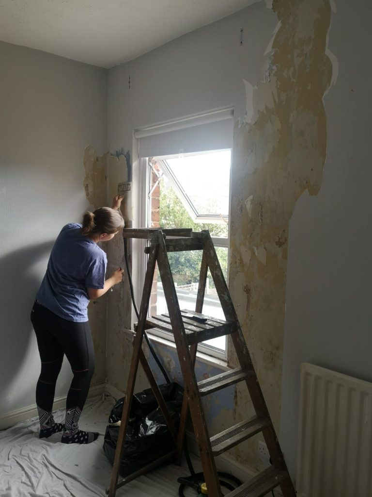 adult skills - wallpaper stripping